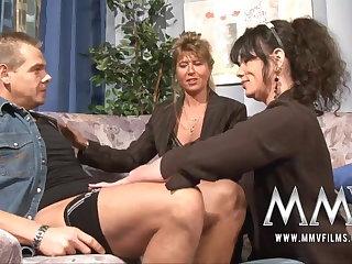 MMV Films Mature teacher having recreation all round a coupling