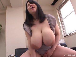 Japanese BBW spoil Yuuki Iori rides cock log in investigate giving  a blowjob