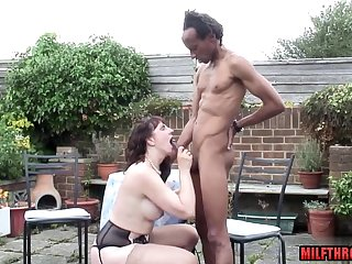Scrawny black lady's man fucks horny PAWG