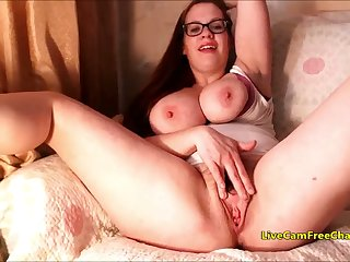 Czech MIFL with Big Bristols and Grown Hairy Pussy