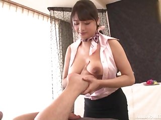 Suhara Nozomi gives the best tit job to her client during the knead