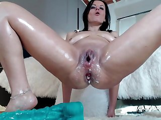 Horny Milf Slut Loses The Whole Dildo In Will not hear of On target Asshole
