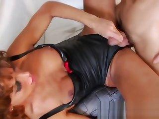 Tgirl gets fucked hard
