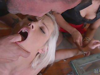 Perverted streetwalker Zazie Skymm is actually ready for hardcore FFM