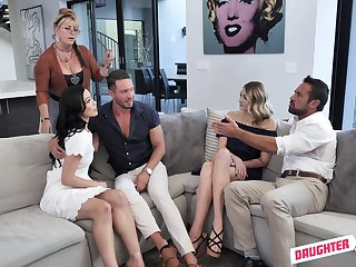 Group fuck after long working steady old-fashioned is a paradise for Diana Grace