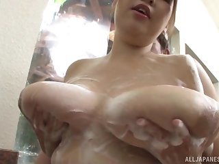 After she shows her huge boobs hot Japanese Yuuki enjoys sexual relations with a dude
