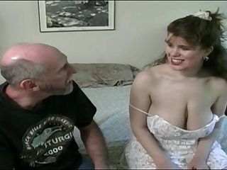 Tessa with a old fart - beamy mammaries