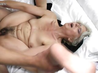 Soft grandma hard fucked by young lover