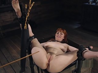 Natural huge tits attendant nipples clamped