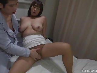 Sweet Japanese ramming a big patient's penis on the hospital bed