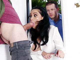 Lustful neighbors fucked hard domineer wife