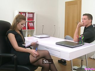 Brunette interviewer Alexis  needs just about remark dick of the handsome stud