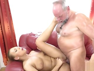 Hairy Mature Guy Fucking a Stunning Beauteous