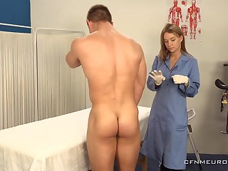 A big beggar submits all over prostate exam and his sexy doctor wants all over finger his ass