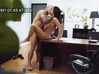 MILF filmed in secret when fucking with will not hear of boss