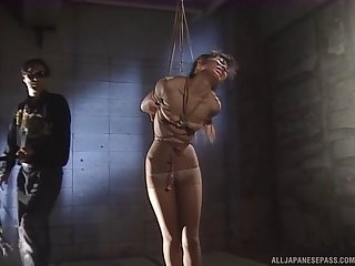 Inexact fucking for tied nearly Japanese chick who is into serfdom