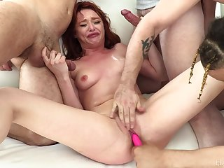 Lacy Lennon brutal gangbang video