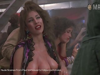 The three breasted bawd from Paul Verhoeven's movie flaunting her finances