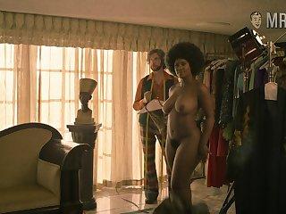 Curvy Toni Duclottni standing fully naked anon she disrobes on a photo shoot
