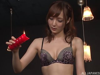 Nasty slut Kaede Fuyutsuki loves sucking his dick and licking his botheration