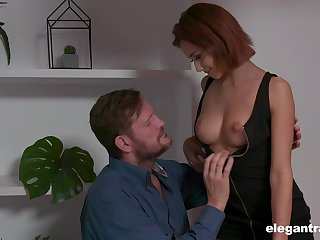 Veronica looks so sexy with that big cock almost her hungry cunt and she's so fine
