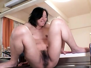 Hardcore squirt by an oiled and tied there Japanese chick