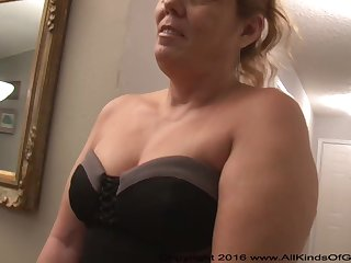 Mexican grandmother gilf with large aggravation attempts out be fitting of assfuck inexperienced pornography